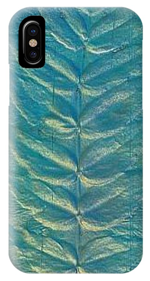 Landscape IPhone X Case featuring the painting Remnant by Rick Silas