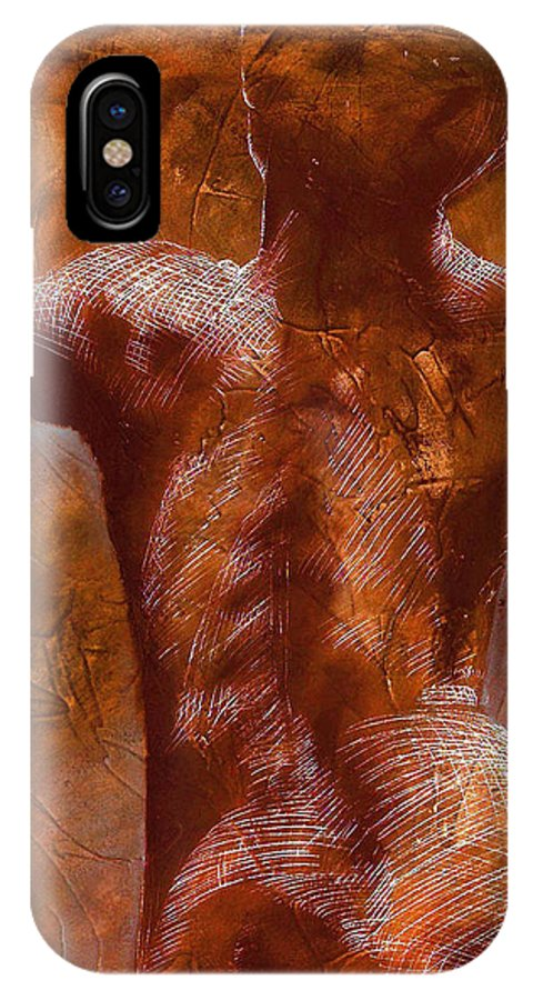 Nude IPhone X Case featuring the painting Renaissance IIi by Richard Hoedl