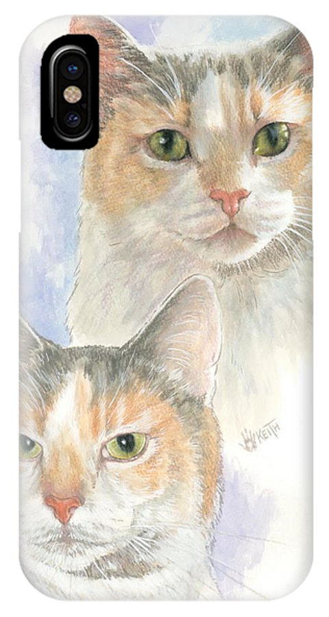 Domestic IPhone X Case featuring the mixed media Reno by Barbara Keith