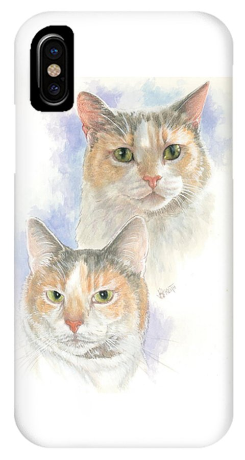 Domestic IPhone Case featuring the mixed media Reno by Barbara Keith