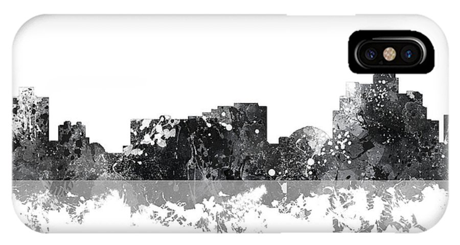 Reno Nevada Skyline IPhone X Case featuring the digital art Reno Nevada Skyline by Marlene Watson
