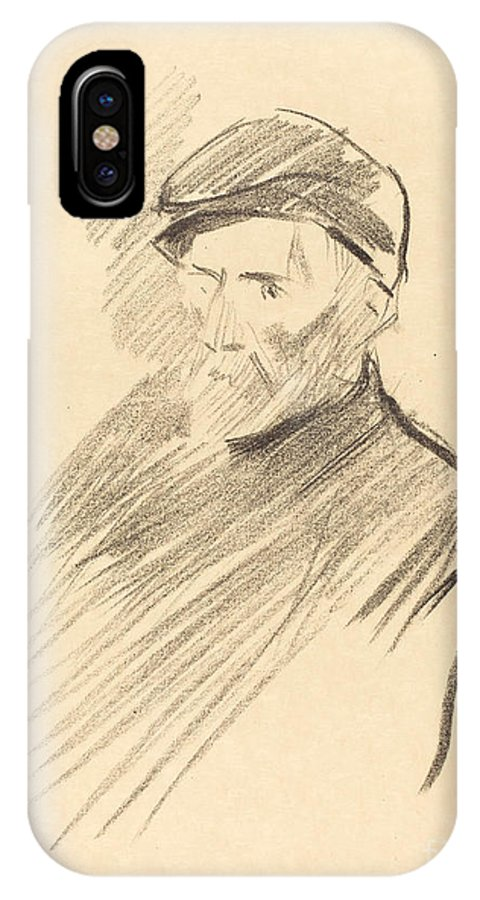 IPhone X Case featuring the drawing Renoir (first Plate) by Jean-louis Forain
