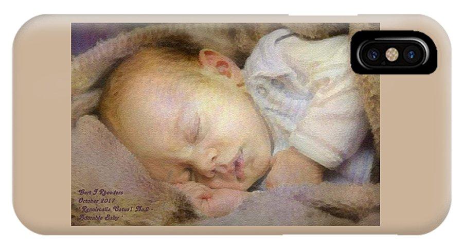Renoir IPhone X Case featuring the digital art Renoircalia Catus 1 No.2 - Adorable Baby L A by Gert J Rheeders
