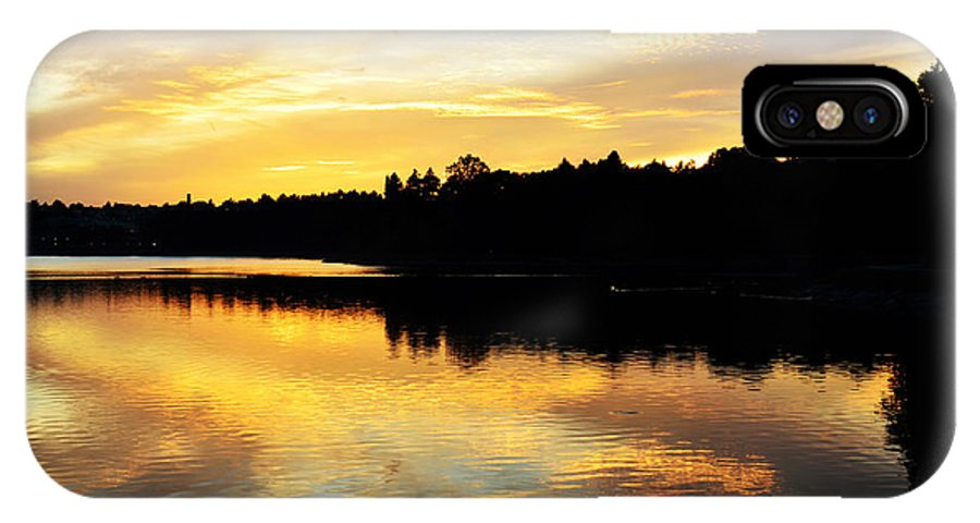 Sunset IPhone X Case featuring the photograph Reservoir Sunset 1 by Kevin Myron