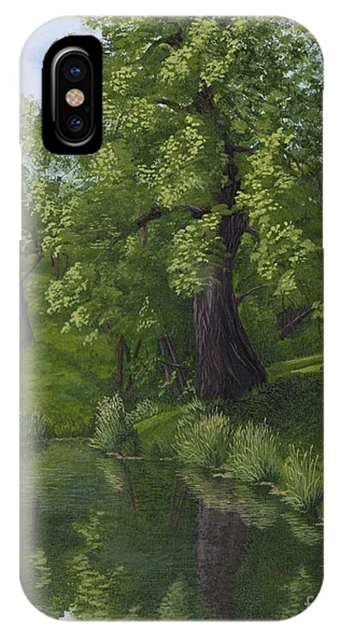 Cottonwood Tree IPhone X Case featuring the painting Rest After The Storm by Kathleen Keller