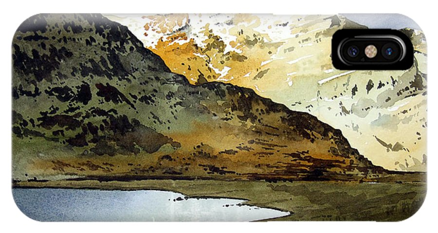 Watercolour Landscape Of Scottish Mountains IPhone Case featuring the painting Rest And Be Thankful Pass by Paul Dene Marlor