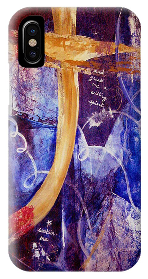 Abstract IPhone Case featuring the painting Restore To Me by Ruth Palmer