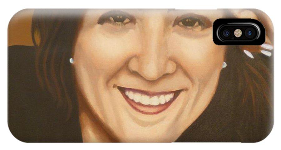 Retrato De Rocio IPhone X Case featuring the painting Retrato De Rocio by Fernando A Hernandez