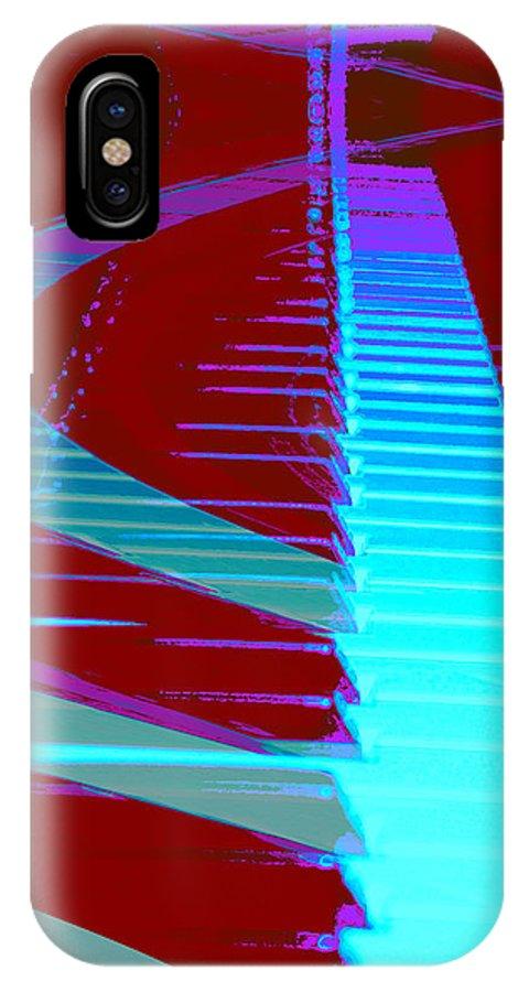 Piano Art IPhone X Case featuring the photograph Retro Keys by Linda Sannuti