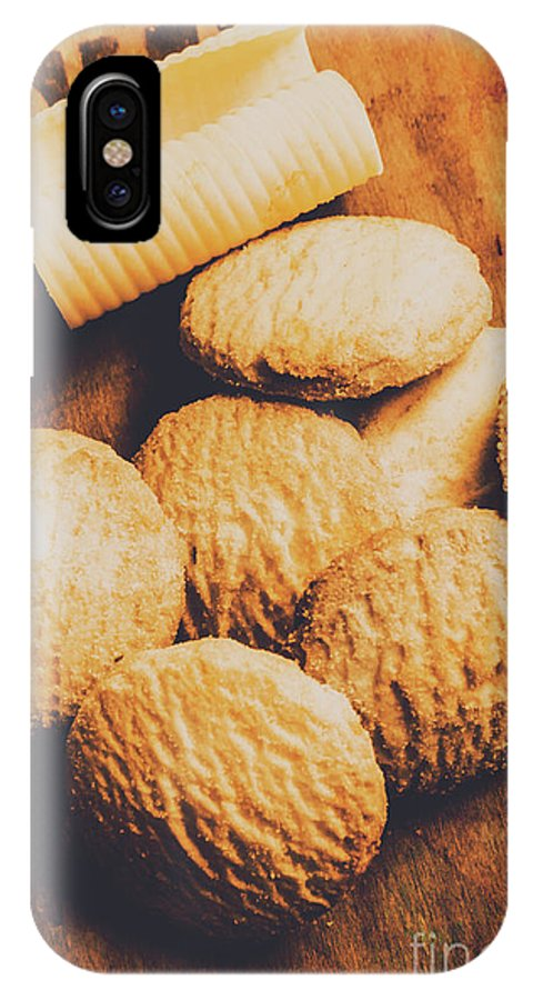 Biscuits IPhone X Case featuring the photograph Retro Shortbread Biscuits In Old Kitchen by Jorgo Photography - Wall Art Gallery