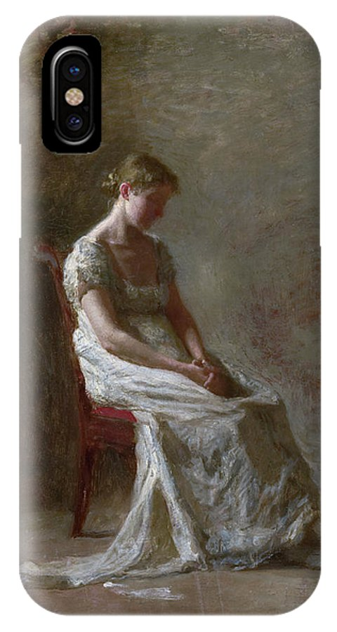 America IPhone X Case featuring the painting Retrospection by Thomas Eakins