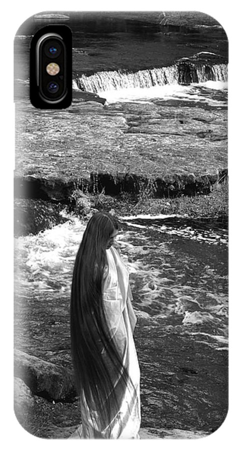 Woman IPhone X Case featuring the photograph Return To The Falls by Debbie May