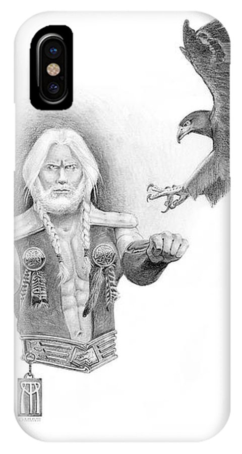 Barbarian IPhone X Case featuring the painting Revan Ramstedder by Melissa A Benson