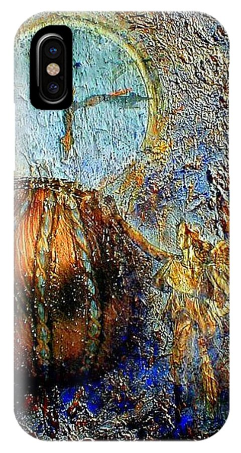 Christian IPhone X Case featuring the mixed media Revelation by Gail Kirtz