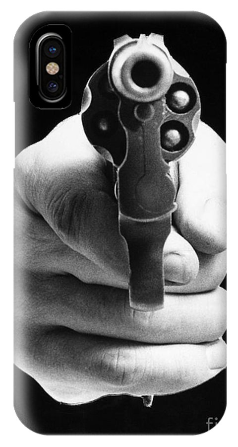 20th Century IPhone X Case featuring the photograph Revolver Aimed At You by Granger