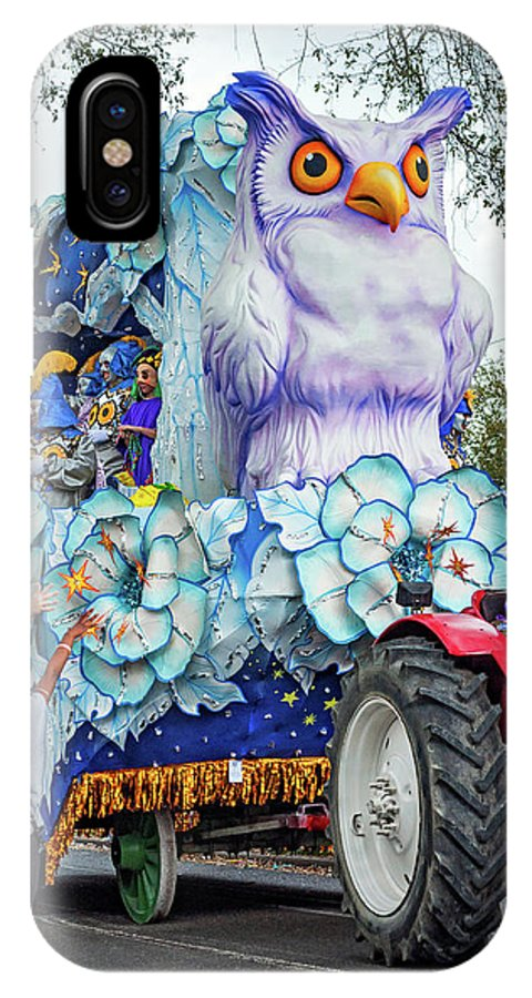 New Orleans IPhone X Case featuring the photograph Rex Mardi Gras Parade Iv by Steve Harrington