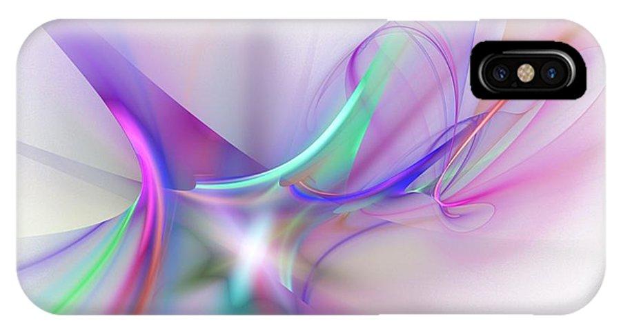 Digital Painting IPhone X Case featuring the digital art Rhapsody by David Lane