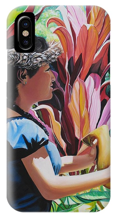 Rhythm IPhone Case featuring the painting Rhythm Of The Hula by Marionette Taboniar
