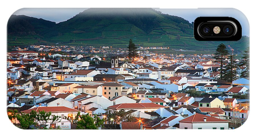 Europe IPhone Case featuring the photograph Ribeira Grande At Nightfall by Gaspar Avila