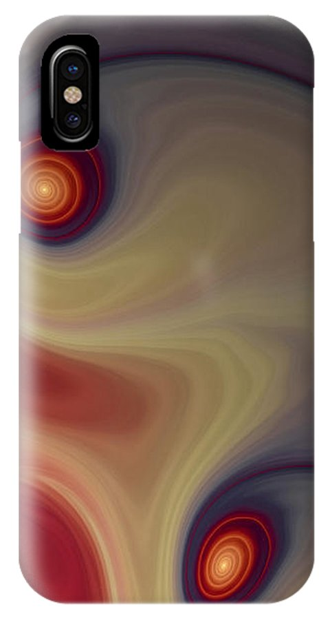 Apophysis IPhone X Case featuring the digital art Rich In Color by Amorina Ashton