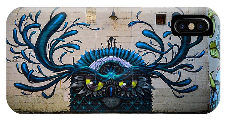 Street Art IPhone X Case featuring the photograph Richmond Street Art by Aaron Dishner