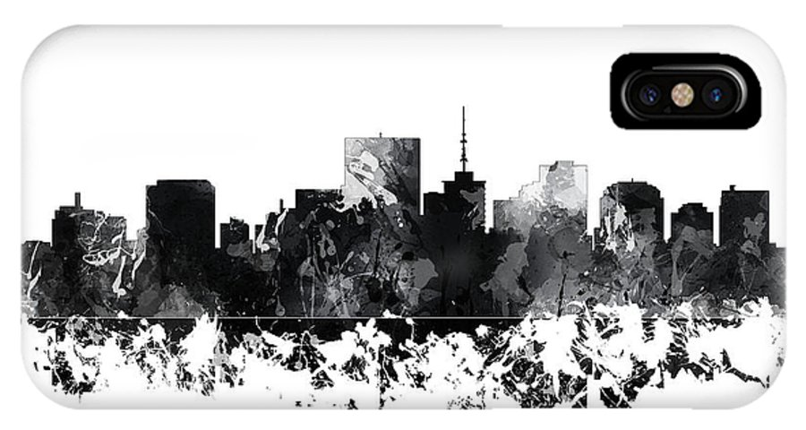 Richmond Virginia Skyline IPhone X Case featuring the digital art Richmond Virginia Skyline by Marlene Watson