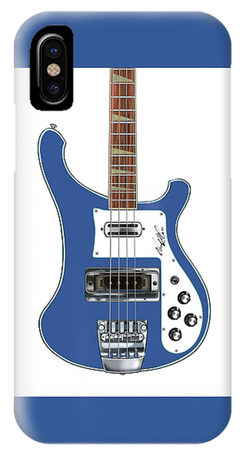 Wall Art IPhone X / XS Case featuring the digital art Rickenbacker Bass 4001 Body by Chad Glass