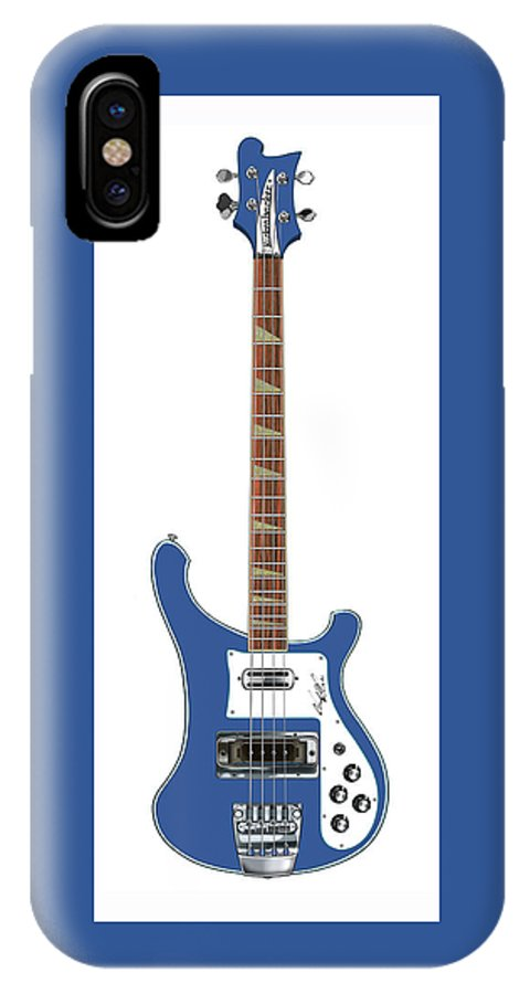 Wall Art IPhone X / XS Case featuring the digital art Rickenbacker Bass 4001 by Chad Glass