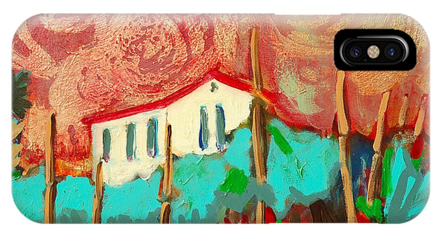 Tuscany IPhone Case featuring the painting Ricordare by Kurt Hausmann