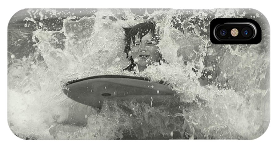 Beach IPhone X Case featuring the photograph Ride The Wave by JAMART Photography