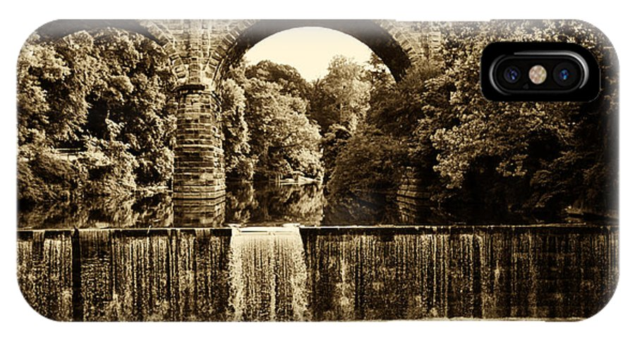 Falls IPhone X Case featuring the photograph Ridge Avenue Falls Along The Wissahickon Creek by Bill Cannon