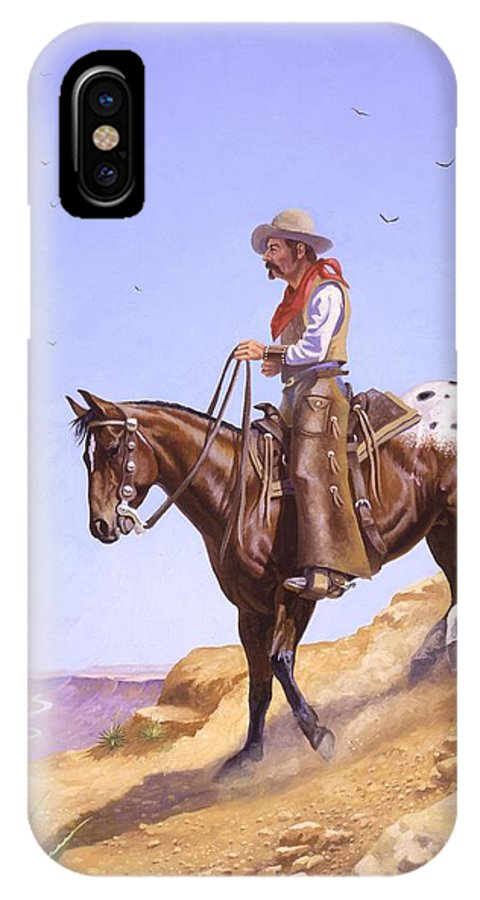 Appaloosa IPhone Case featuring the painting Ridin' High by Howard Dubois