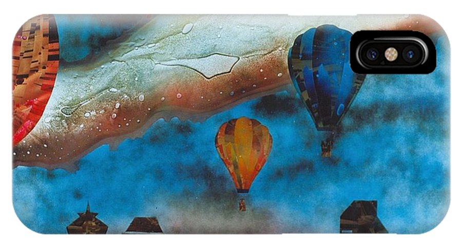 Landscape IPhone X Case featuring the painting Riding the Chinook by Rick Silas
