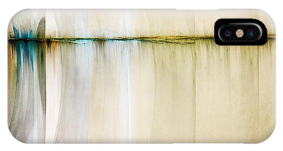 Digital Artwork IPhone X Case featuring the digital art Rift In Time by Scott Norris