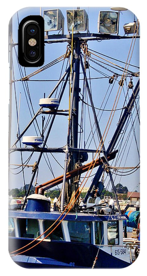 Rigging IPhone X Case featuring the photograph Rigging by Marilyn Diaz