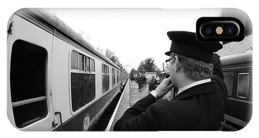 Train IPhone X Case featuring the photograph Right Of Way by Andy Thompson