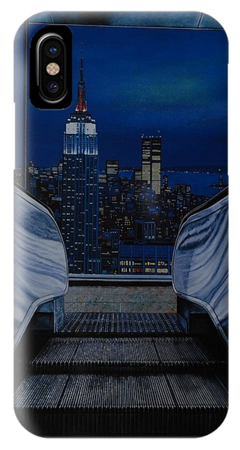 Lithograph IPhone X Case featuring the photograph Right To The Top by Rob Hans
