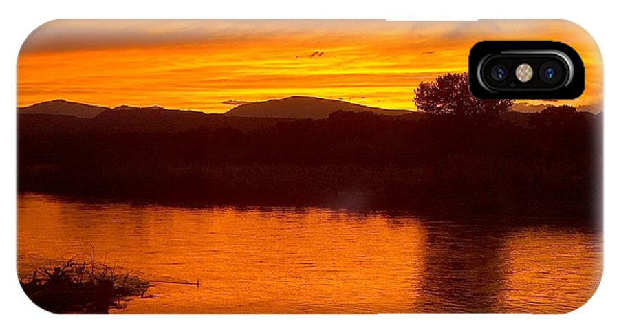 Sunset IPhone Case featuring the photograph Rio Grande Sunset by Tim McCarthy