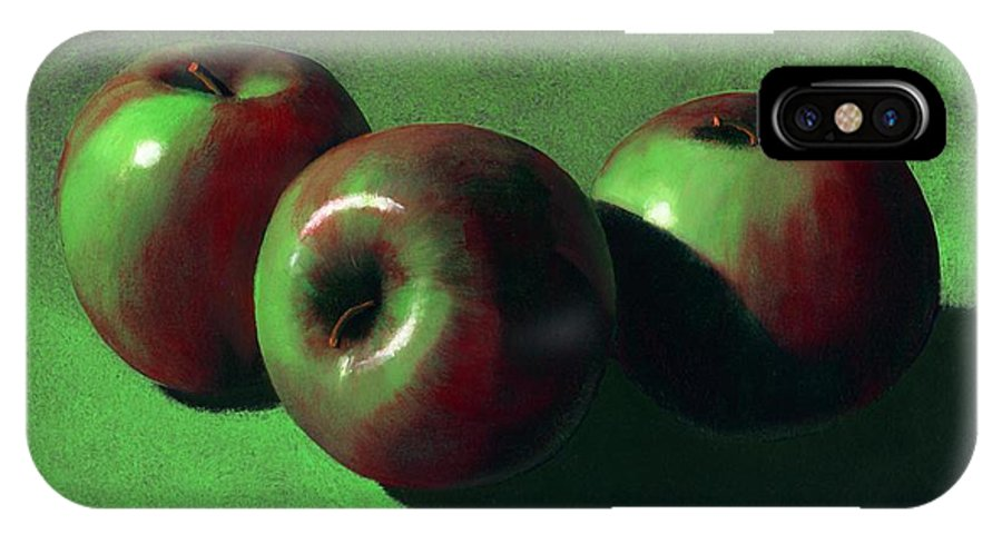 Still Life IPhone X Case featuring the painting Ripe Apples by Frank Wilson