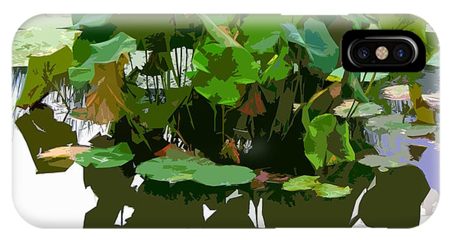 Lotus IPhone X Case featuring the photograph Ripples On The Lotus Pond by John Lautermilch