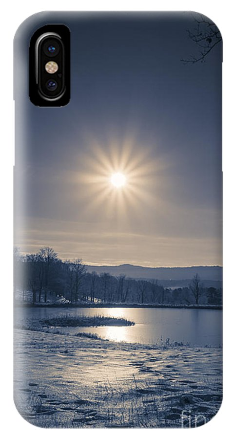 Etna IPhone X Case featuring the photograph Rising Sun On A Cold Winter Morning by Edward Fielding