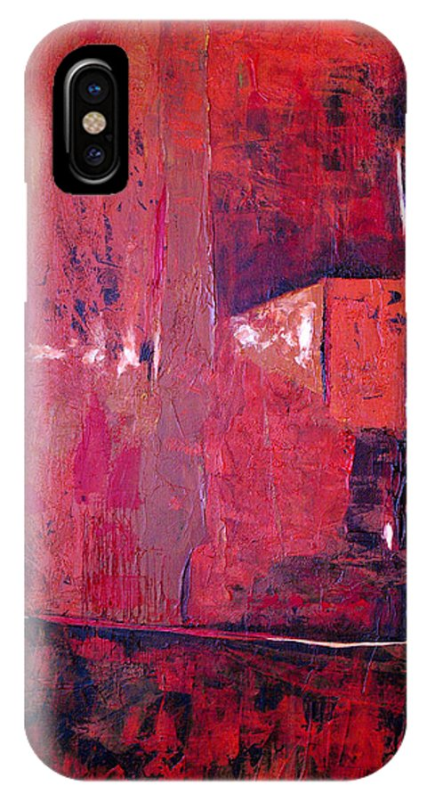 Abstract IPhone Case featuring the painting Risky Business by Ruth Palmer