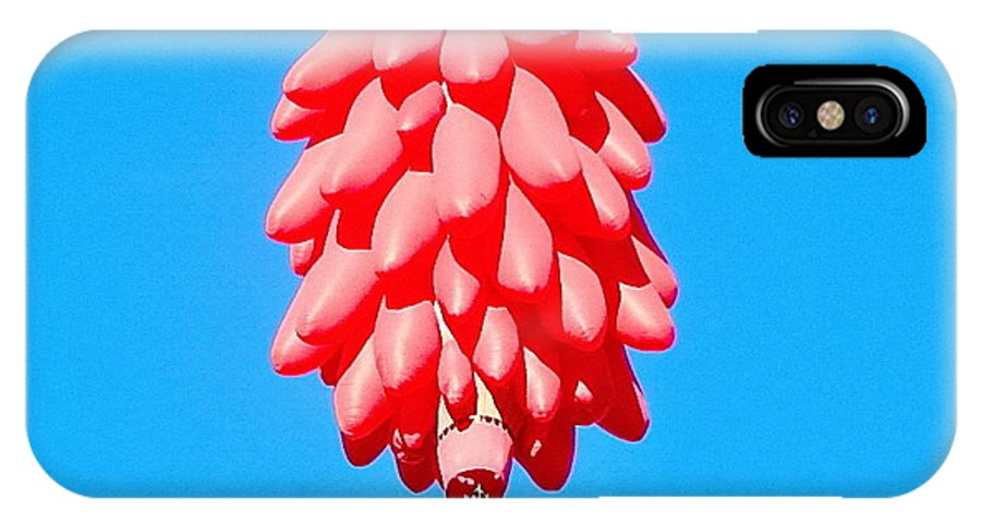 Balloon IPhone X Case featuring the photograph Ristra In The Sky by Lynne Barron