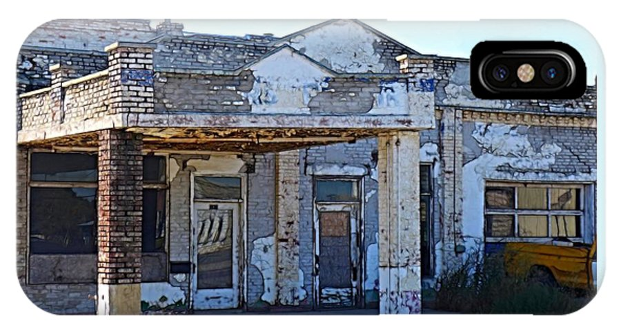 Gas Station IPhone X / XS Case featuring the photograph Ritzville Ruins by Tim Coleman