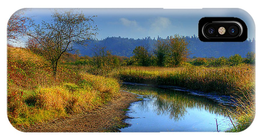 Nisqually IPhone X Case featuring the photograph River Bend by David Patterson