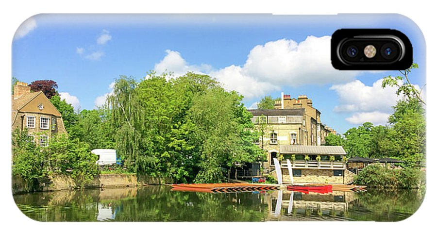Cambridge IPhone X Case featuring the photograph River Cam by Delphimages Photo Creations