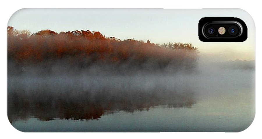 Marsh IPhone X Case featuring the photograph River Mist by Sheri McLeroy