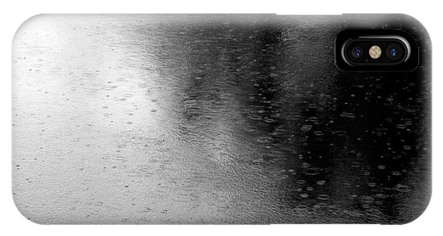 River IPhone X / XS Case featuring the photograph River Rain Naperville Illinois by Michael Bessler