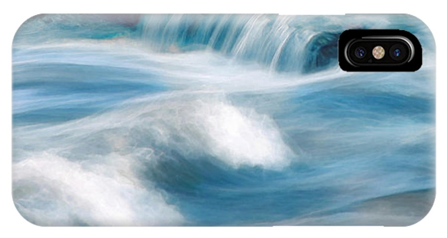 Rapids IPhone X Case featuring the digital art River Rapids by Francesa Miller