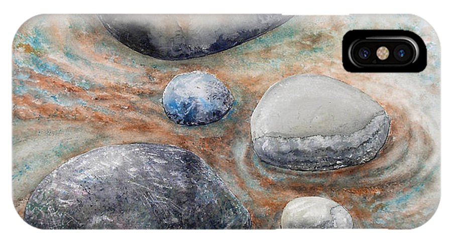 Abstract IPhone Case featuring the painting River Rock 2 by Valerie Meotti